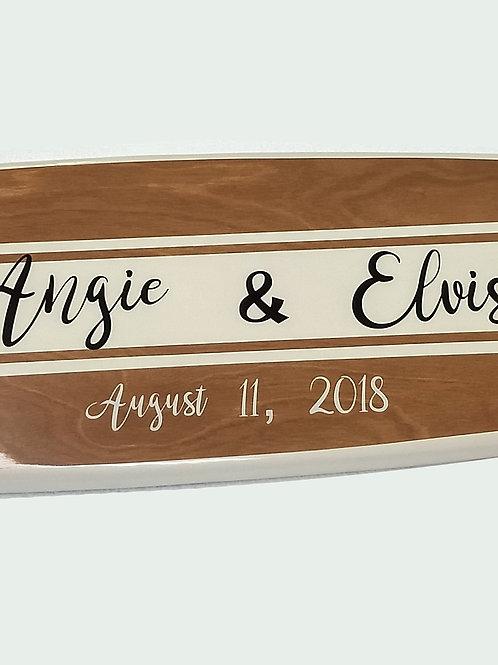 Wedding Signature Surfboard Customized Surfboard