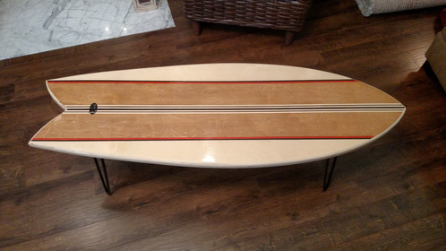 We Are Excited To Offer This Retro Fish Surfboard Coffee Table. This Board  Has Realistic Dimensions Of A Real Fish Surfboard.