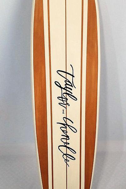 Surfboard Wall Hanger Wedding Guestbook Surfboard Customized Surfboard
