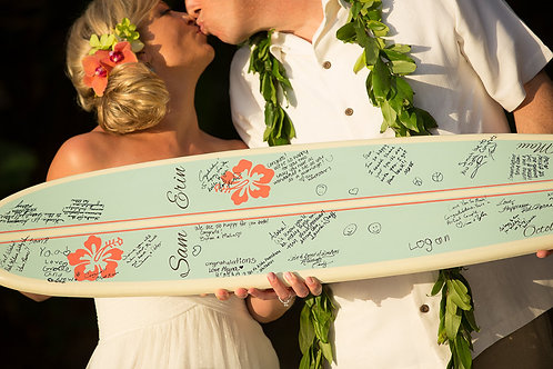 Wedding Surfboard Guestbook Personalized