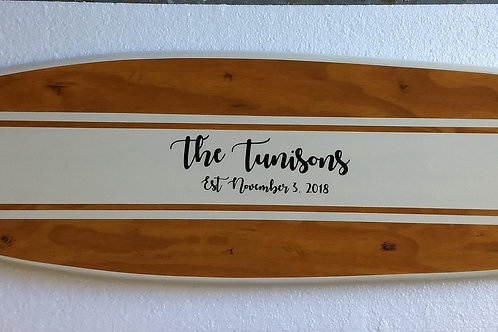 Custom Fish Surfboard for Wedding Guestbook Signatures
