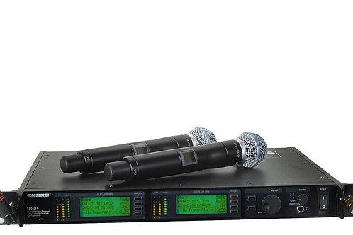 Système HF SHURE UR4D+ / 2x UR2-SM58
