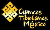 logo Cuencos tibetanos DORADO con sombra