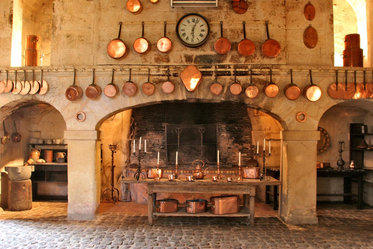Chateau Brissac old kitchen