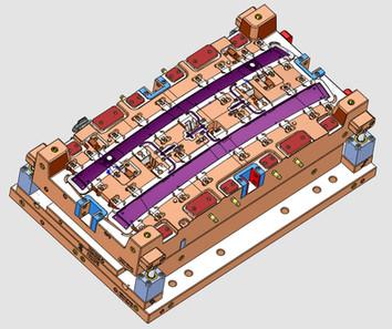 Konstruktion Spritzguss Monoblockform
