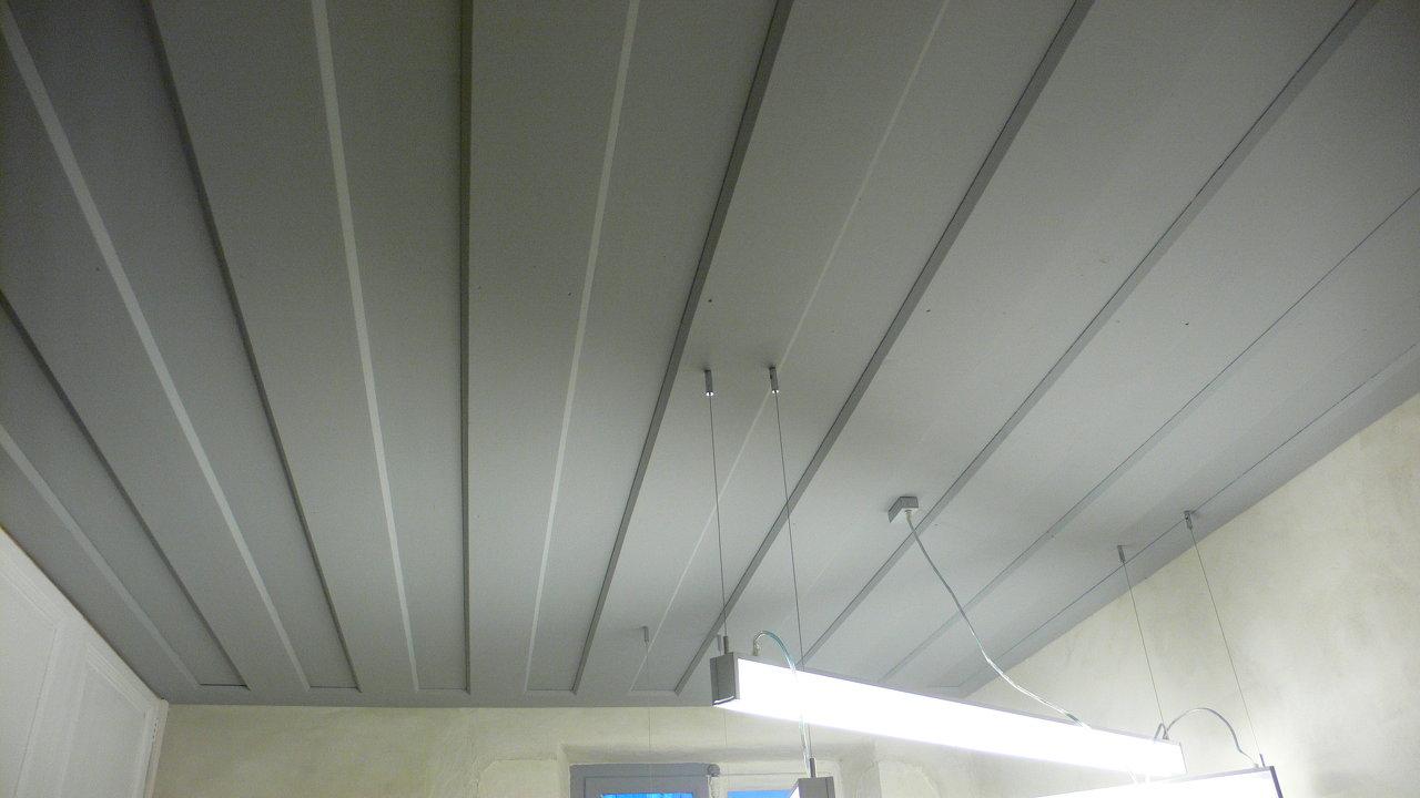 Peinture plafond bois