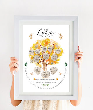 Family Tree Print - Maple