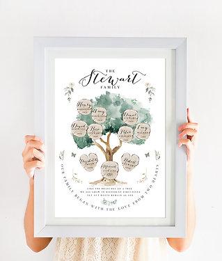 Family Tree Print - Olive