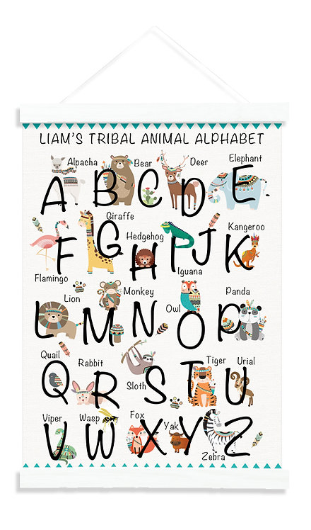 Tribal Animal Alphabet