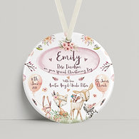 Christening - Woodland Animals