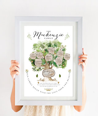 Family Tree Print - Oak