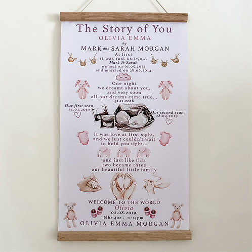 The Story of You our Baby Girl