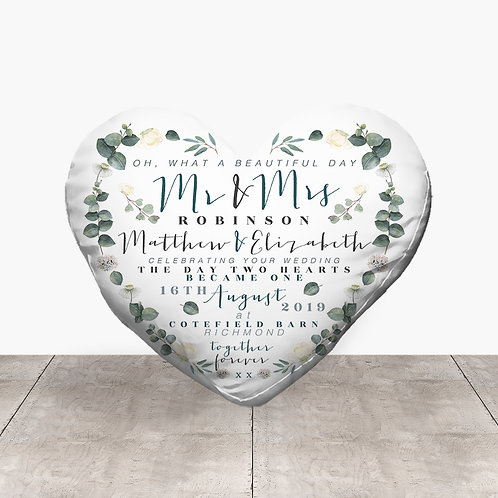 Wedding Heart - Eucalyptus Flowers