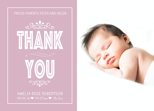 Thank You Baby Girl Photo
