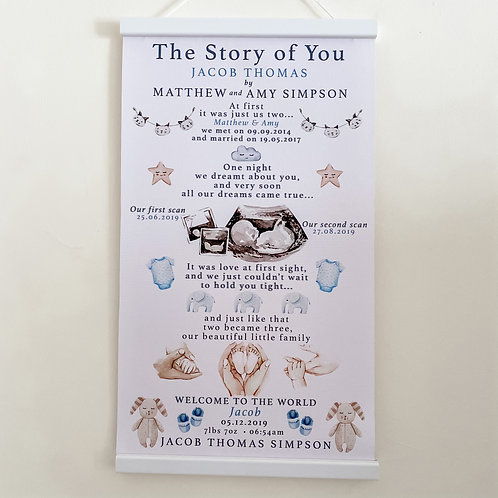 The Story of You our Baby Boy