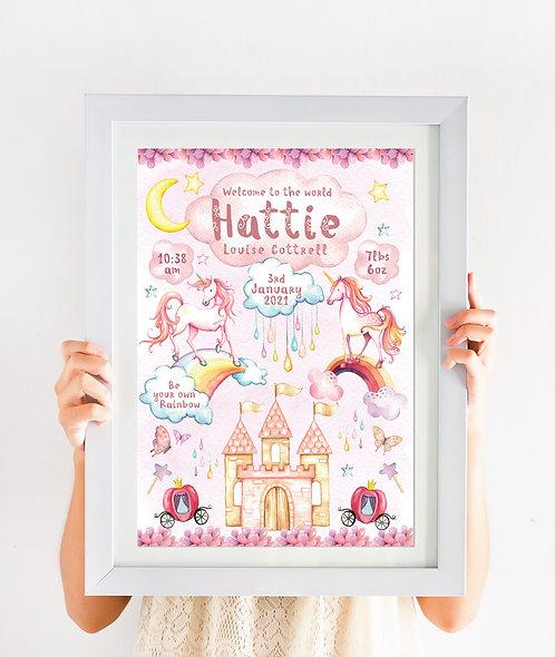 Rainbow Unicorn Castle