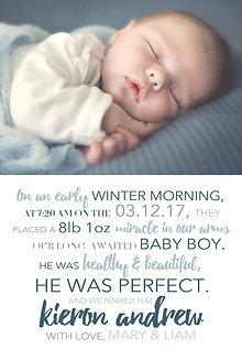 Birth Story Boy