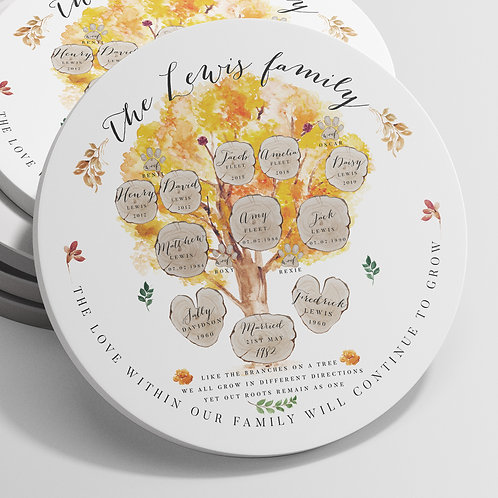 Family Tree Ornament - Maple