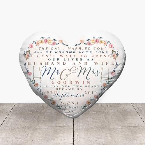 Wedding Heart - Husband & Wife