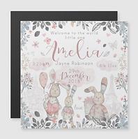 Floral Rabbits Pink