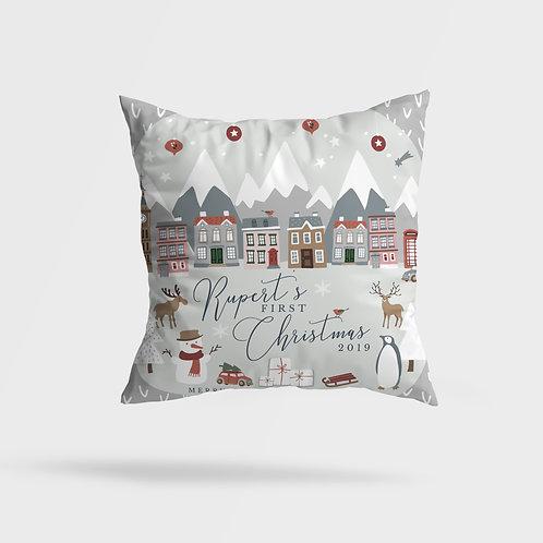 Winter Grey Town