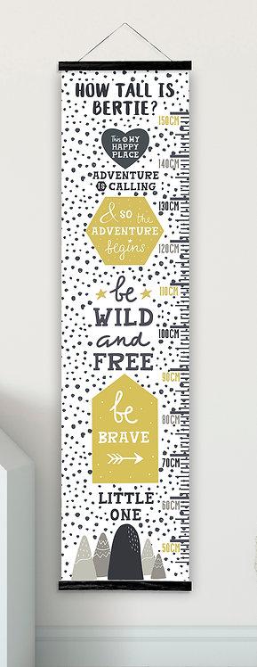 Be Wild & Free Grey Mustard
