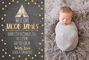 Baby Gold Teepee Thank You