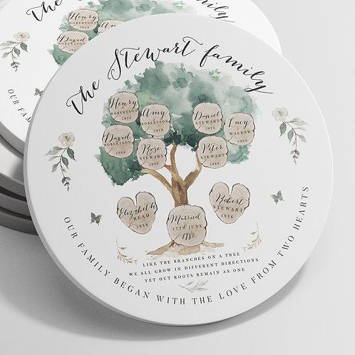 Family Tree Ornament - Olive