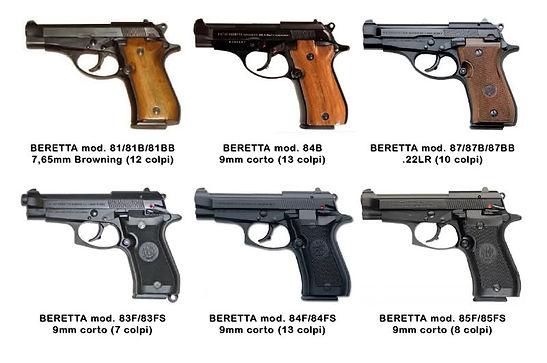 Firearms info   weapons   Beretta   80 Series