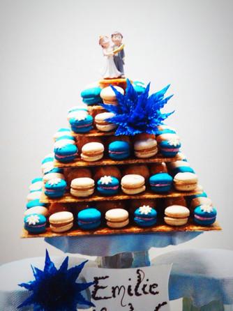 Pyramide en macarons