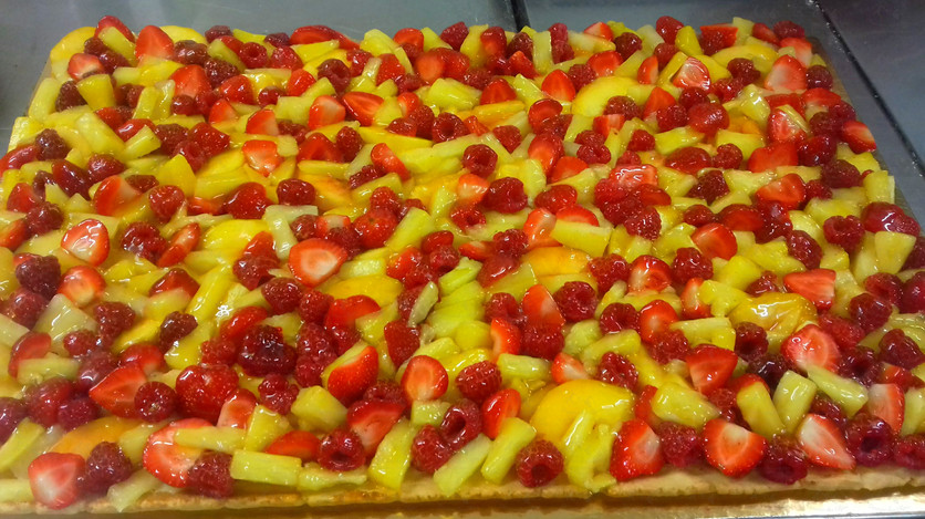 Tarte multifruits en plaque