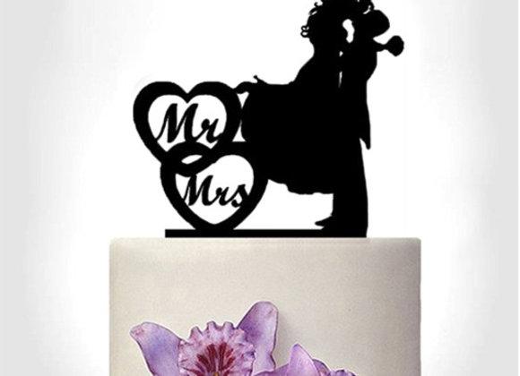 Sujet de mariage - Ombres Mr & Mrs