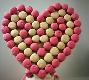 Coeur en macarons