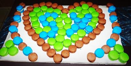 Coeur en macarons N°3