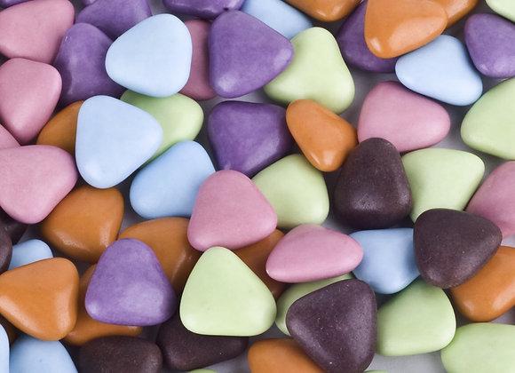 Dragées cœur chocolat noir 70%