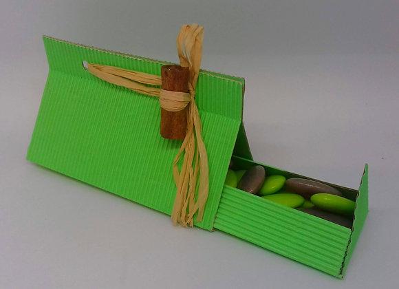 Boîte verte cannelle - Composition de dragées