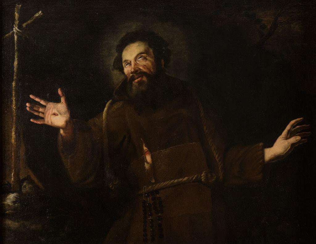 San Francesco d'Assisi in preghiera