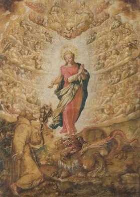 Immacolata Concezione con san Francesco (Lilium inter spinas)
