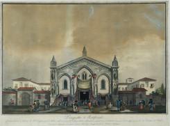 Chiesa dell'Immacolata Concezione di Milano  in occasione del triduo per la beatificazione  di fra Crispino da Viterbo nel settembre 1809