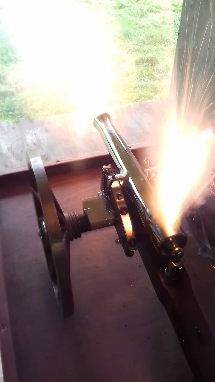 Miniature Cannon In Action