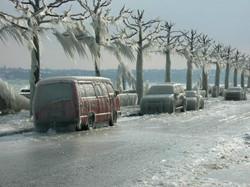 Учинак ледене кише и јаког ветра