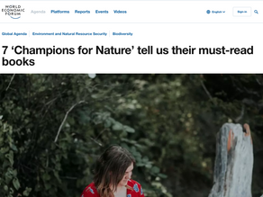 7 'Champions for Nature' tell us their must-read books