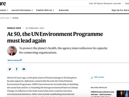 At 50, the UN Environment Programme must lead again