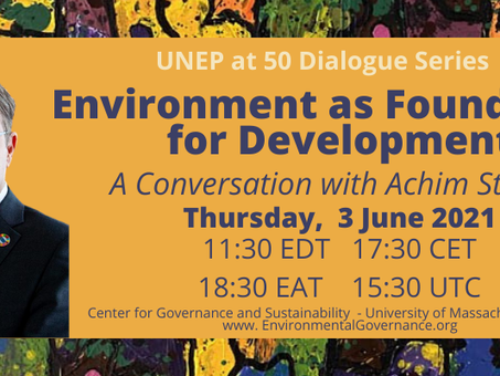 EVENT: Environment as Foundation for Development: A Conversation with Achim Steiner