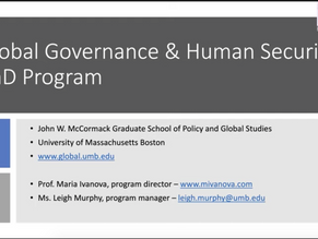 Global Governance and Human Security PhD info session with Maria Ivanova