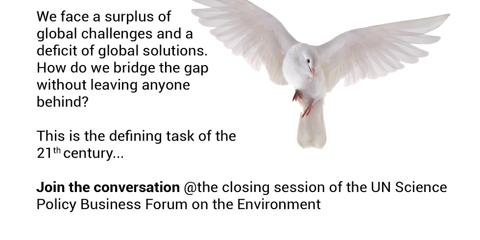 Making peace with nature: The defining task of the 21st century