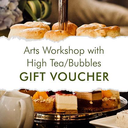 Arts Workshop with High Tea/Bubbles Gift Voucher