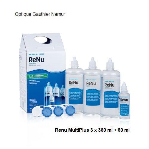 Produit d'entretien ReNu MultiPlus 3x300 ml + 60 ml pour lentilles