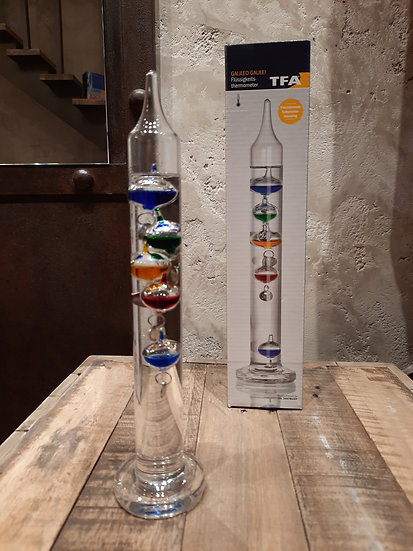 Thermomètre de Galilée 28 cm
