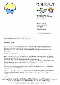 COURRIER MAIRE DE BASSE-TERRE - 20-01-20